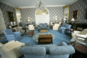 inside of the Blue Parlor