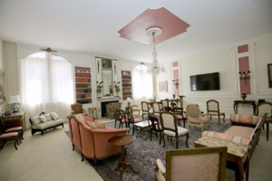 inside of the Pink Parlor